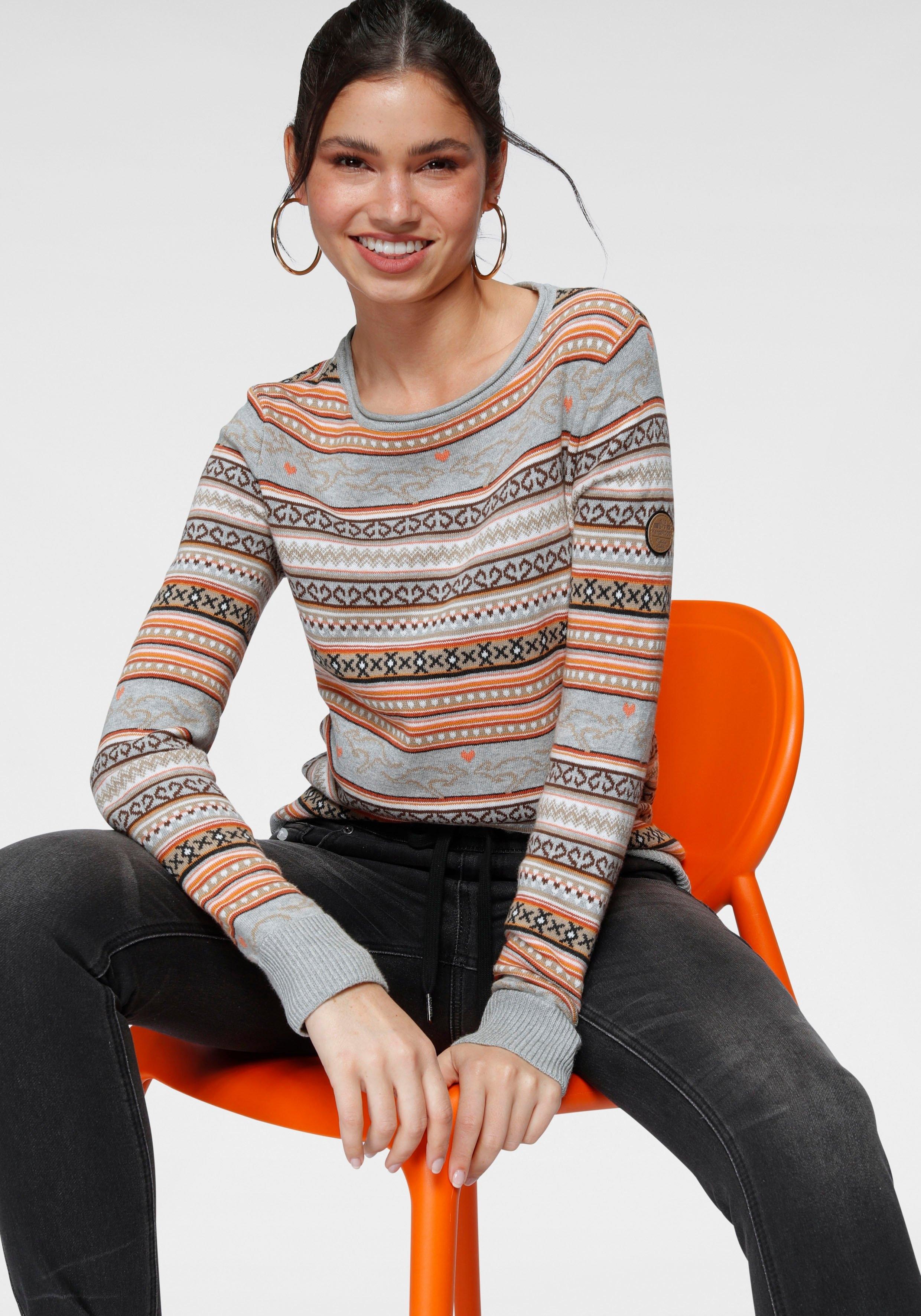 KangaROOS trui met ronde hals van jacquard-tricot - gratis ruilen op otto.nl