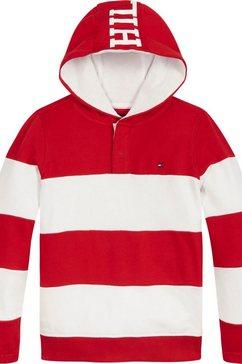 tommy hilfiger hoodie »rugby« rood