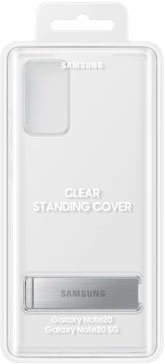 samsung back cover clear standing cover ef-jn980 voor galaxy note20 wit