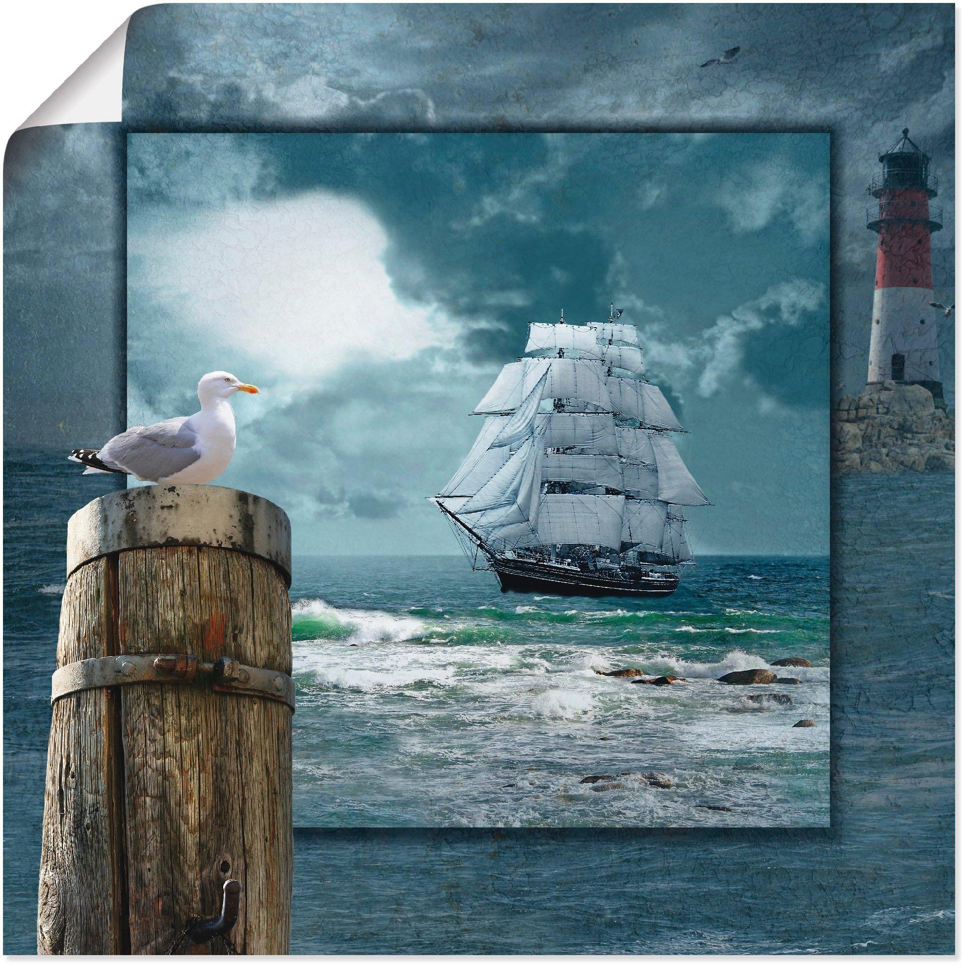 Op zoek naar een Artland artprint Maritieme collage met zeilschip in vele afmetingen & productsoorten -artprint op linnen, poster, muursticker / wandfolie ook geschikt voor de badkamer (1 stuk)? Koop online bij OTTO