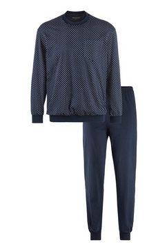 schiesser pyjama met borstzak blauw
