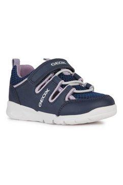 geox kids klittenbandschoenen runner girl met gepatenteerde, speciale geox-membraan blauw