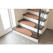 tredemat, »amberg«, trapvormig, hoogte 9 mm, machinaal getuft bruin