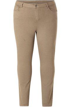 dnim by yesta slim fit jeans mella coloured denim in een klassiek model groen