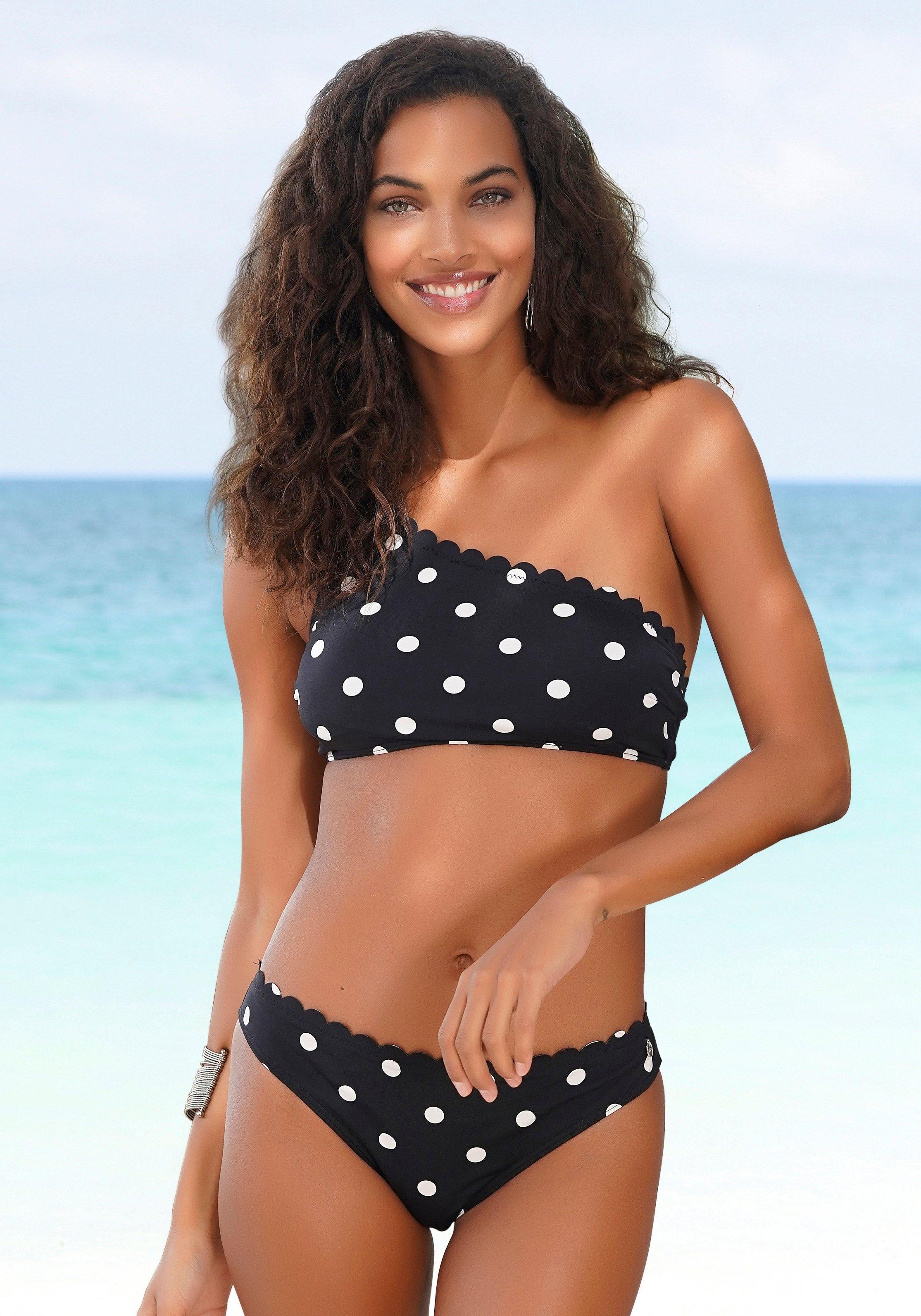 Lascana Bikinibroekje Jada met schulprandjes en stippen bij OTTO online kopen