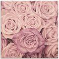 artland print op glas rosen (1 stuk) roze