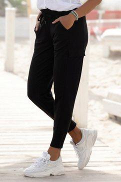 venice beach joggingbroek met zakken opzij op de pijp zwart