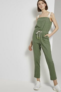 tom tailor denim jumpsuit »utility latzhosen-jumpsuit« groen