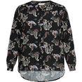 only carmakoma blouse met lange mouwen caranita met kleine v-hals zwart