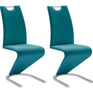 mca furniture vrijdragende stoel amado set van 2, 4 en 6 stuks, stoel belastbaar tot 120 kg (set, 6 stuks) blauw