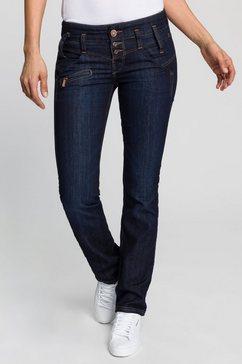 freeman t. porter rechte jeans amelie sdm dubbele pas met knap zitvlak effect blauw