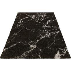 mint rugs hoogpolig vloerkleed »mayrin« zwart