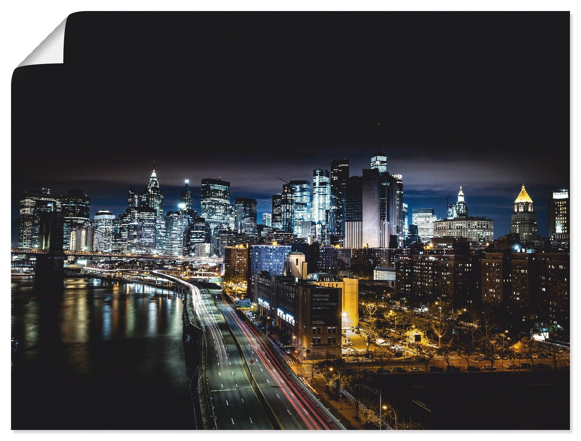 Op zoek naar een Artland artprint Nacht in New York in vele afmetingen & productsoorten - artprint van aluminium / artprint voor buiten, artprint op linnen, poster, muursticker / wandfolie ook geschikt voor de badkamer (1 stuk)? Koop online bij OTTO