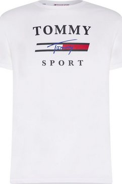 tommy sport trainingsshirt »graphic training tee« wit