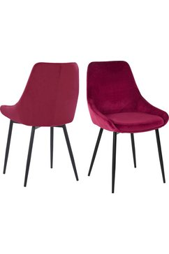 inosign stoel niam in een modern design (set, 2 stuks) rood