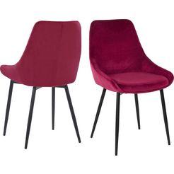 inosign stoel niam set van 2, in een modern design (set, 2 stuks) rood