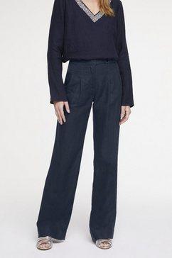 linnen broek blauw