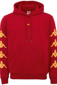 kappa hoodie hasti met opvallende logoprints op de mouwen rood
