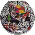 adob toiletzitting nizza grafitti zeer stabiel, universeel passend multicolor