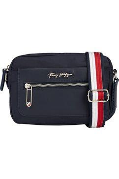 tommy hilfiger mini-bag tommy fresh camera bag corp met kleurrijke textielen schouderriemen blauw