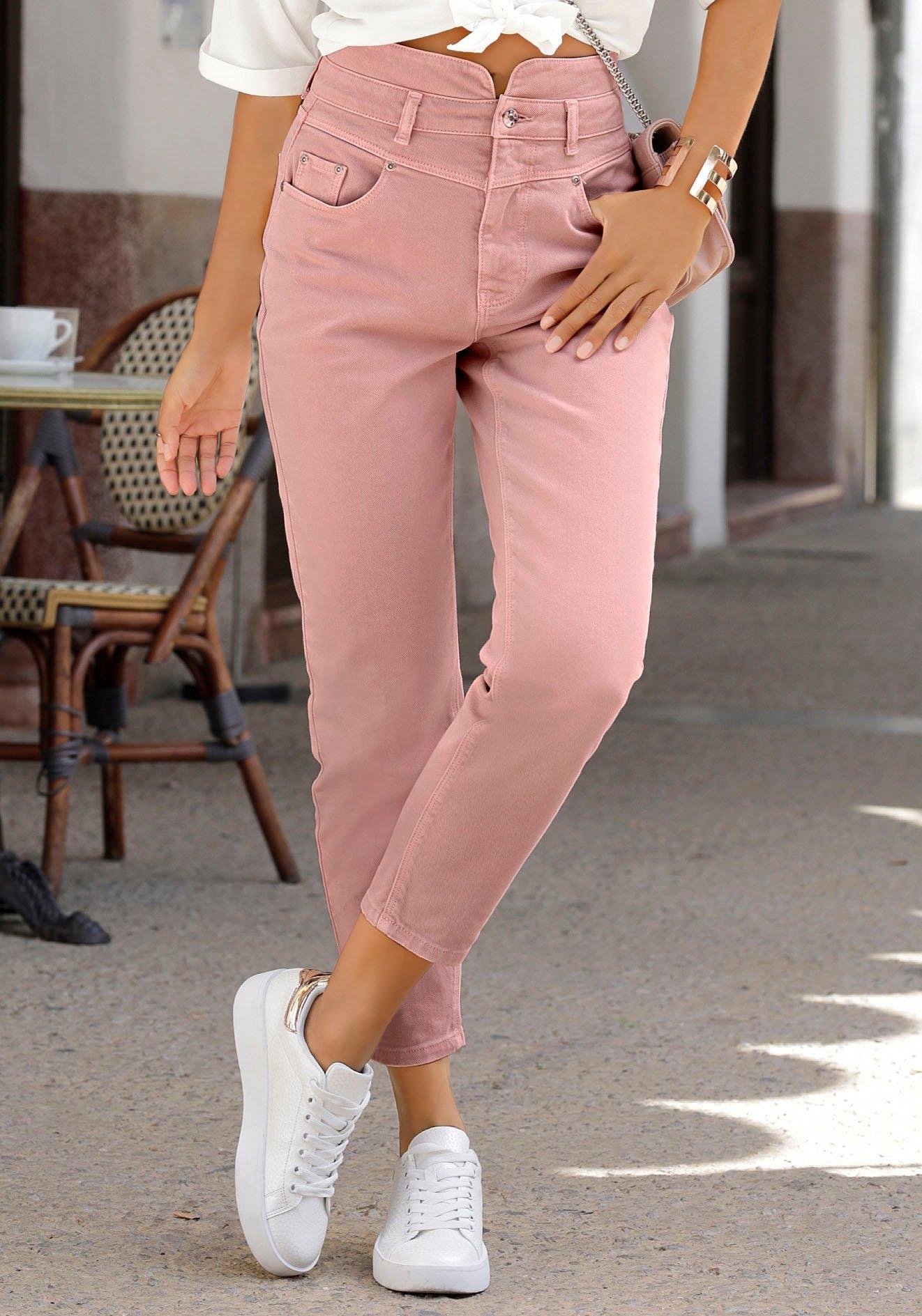 Op zoek naar een Lascana mom jeans in used-wassing? Koop online bij OTTO