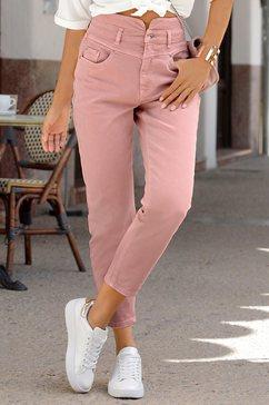 lascana mom jeans roze
