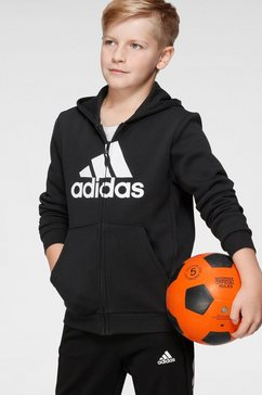 adidas performance capuchonsweatvest »boys must have batch of sport fullzip fleece« zwart