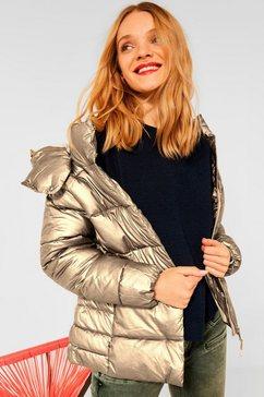 street one gewatteerde jas met ritszakken goud
