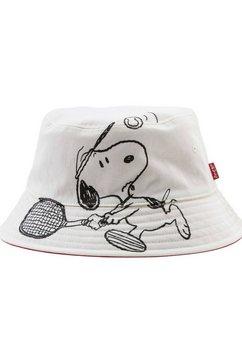 levi's tweezijdig te dragen hoed wit