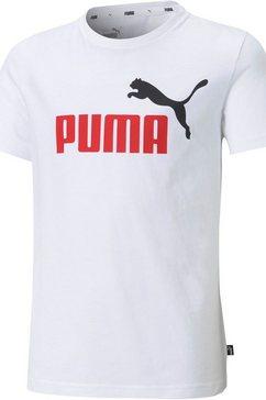 puma t-shirt »ess+ 2 col logo tee b« wit