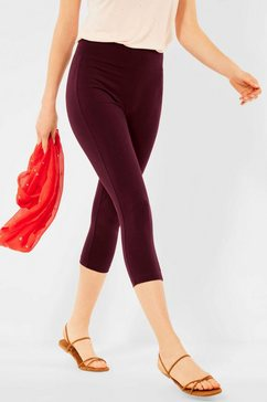cecil 3-4-legging de perfecte uni basic rood