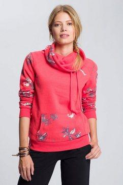 kangaroos sweater met grote col rood