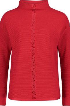 betty barclay trui met staande kraag met glassteentjes rood