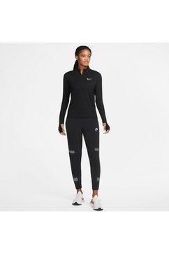 nike runningshirt nike element women's 1-2-zip running top zwart