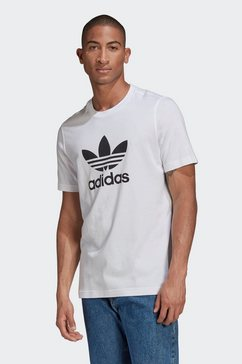 adidas originals t-shirt »trefoil t-shirt« wit