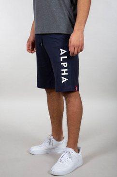alpha industries sweatshort jersey short blauw