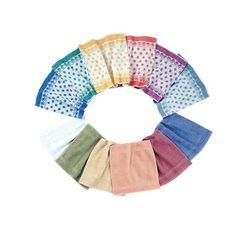 zeepdoekje, ross, set van 6 multicolor