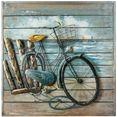 gilde gallery metalen artprint kunstobject enjoy the ride (1 stuk) multicolor