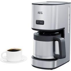 aeg filterkoffieapparaat cm4-1-6st gourmet 6, 1,25 l zilver