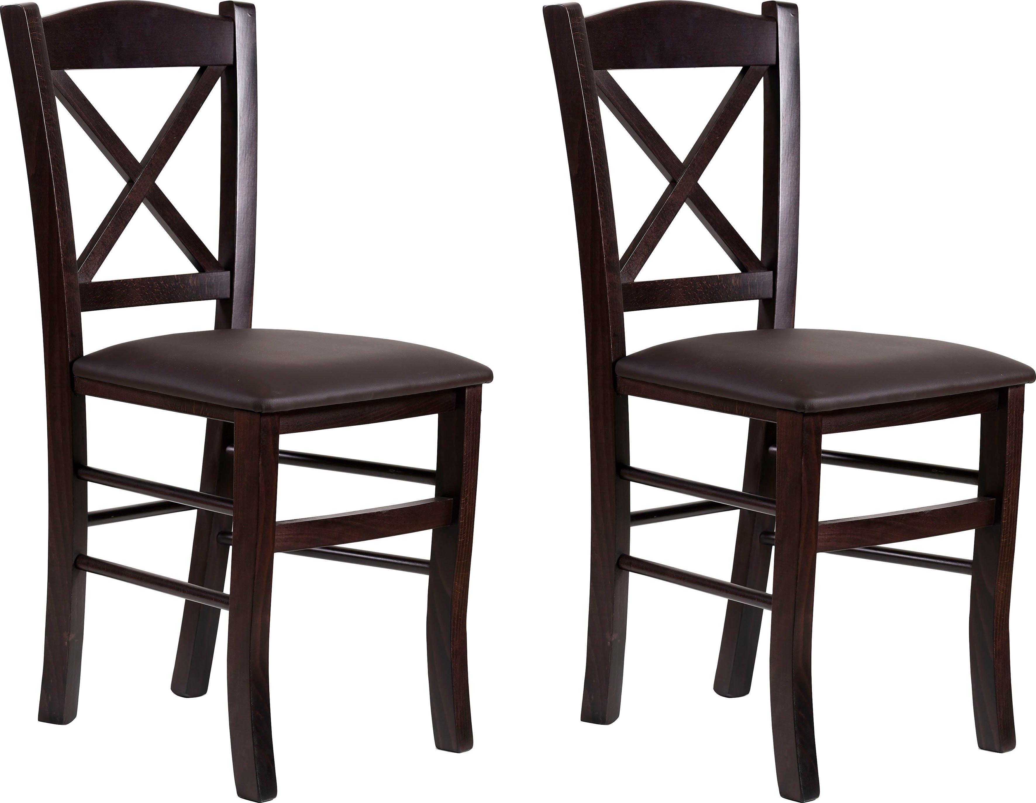 Home affaire eetkamerstoel Clayton met frame van massief hout (set, 2 stuks) bij OTTO online kopen