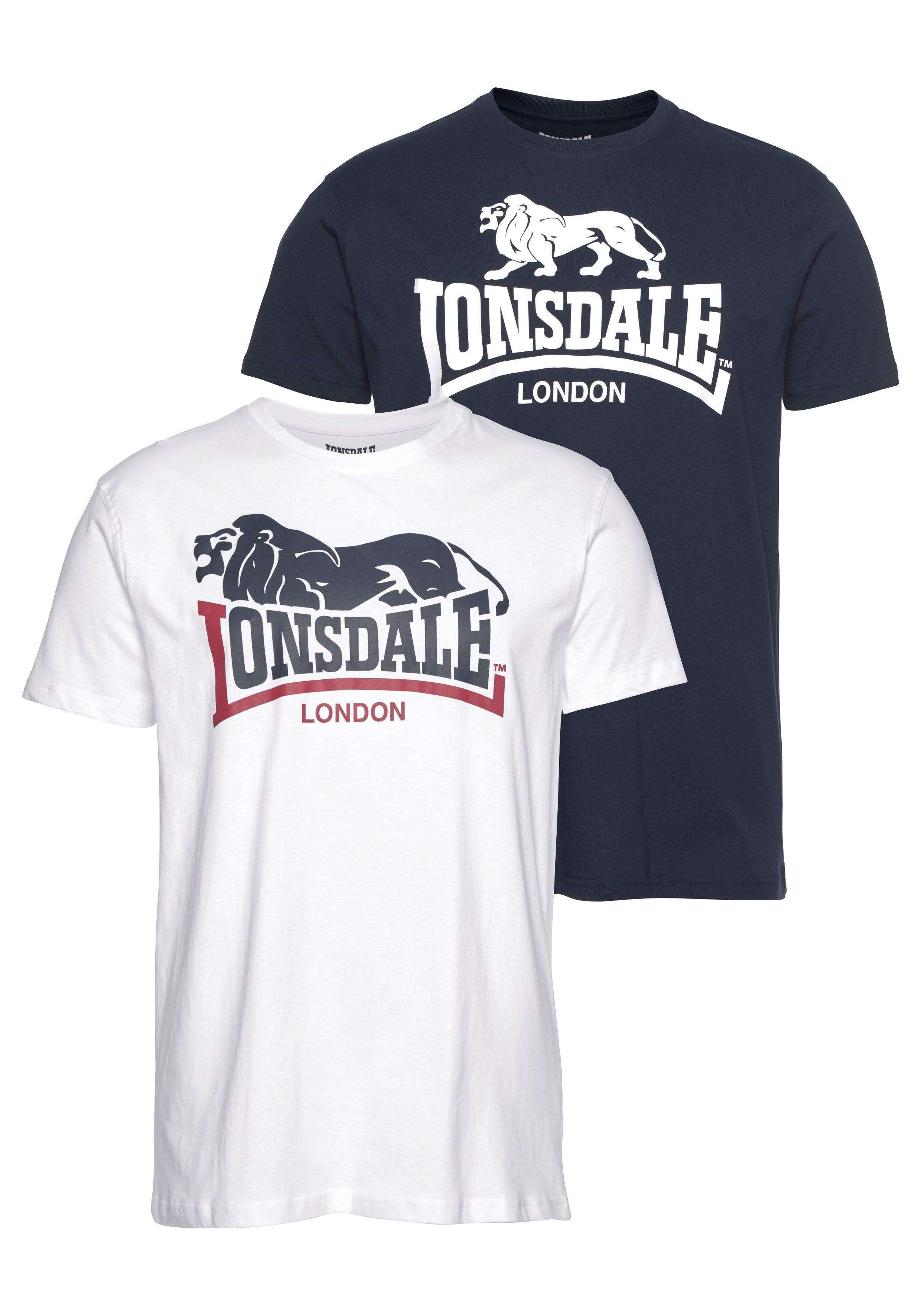 Lonsdale T-shirt LOSCOE (set, 2-delig, Set van 2) goedkoop op otto.nl kopen