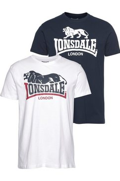 lonsdale t-shirt »loscoe« wit