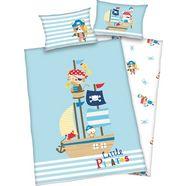 baby best baby-overtrekset little pirate met een schattig motief blauw