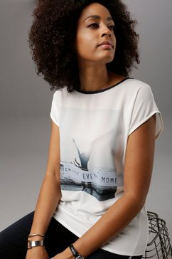 aniston selected shirt in de materiaalmix wit