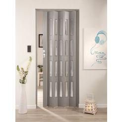 klapdeur elvira grijs geweven, met 4 vensters van kristal grijs
