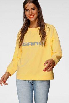 gang sweatshirt sandy shirt met ronde hals en logoprint voor geel