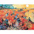 my home artprint van gogh - de rode wijngaard (1 stuk) multicolor