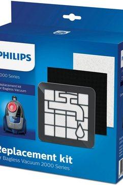 philips filterset xv1220-01 voor stofzakloze stofzuigers van de 2000-serie (set, 3-delig) zwart