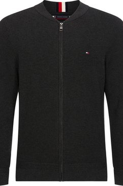 tommy hilfiger vest »ricecorn baseball zip through« grijs