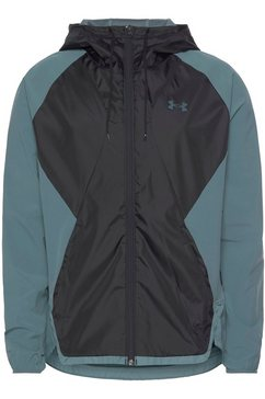 under armour windbreaker »strech woven hooded jacket« zwart